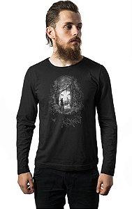 Camiseta Masculina  Manga Longa Tomb Reborn - Nerd e Geek - Presentes Criativos