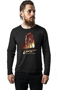Camiseta Masculina Manga Longa Tomb Of Doom - Nerd e Geek - Presentes Criativos