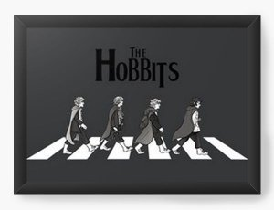 Quadro Decorativo A4 (33X24) The Hobbits - Nerd e Geek - Presentes Criativos