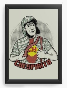 Quadro Decorativo A4 (33X24) Chaves Chespirito - Nerd e Geek - Presentes Criativos