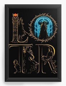 Quadro Decorativo A3 (45X33) The Lord of the Rings - Nerd e Geek - Presentes Criativos