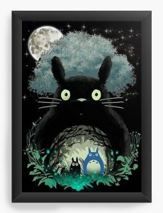 Quadro Decorativo A4 (33X24) My Neighbor Totoro - Nerd e Geek - Presentes Criativos