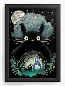 Quadro Decorativo A4 (33X24) My Neighbor Totoro - Nerd e Geek - Presentes Criativos