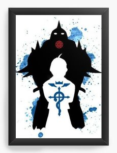 Quadro Decorativo A3 (45X33) Anime Epic Fullmetal Alchemist - Nerd e Geek - Presentes Criativos