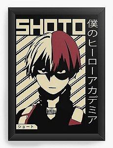 Quadro Decorativo A3 (45X33) Anime My Hero Academia Shoto Todoroki - Nerd e Geek - Presentes Criativos