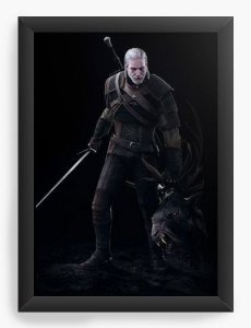 Quadro Decorativo A3 (45X33) The Witcher 3 - Nerd e Geek - Presentes Criativos