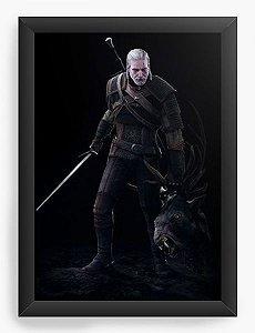 Quadro Decorativo A4 (33X24) The Witcher 3 - Nerd e Geek - Presentes Criativos