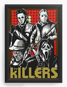 Quadro Decorativo A3 (45X33) Killers - Nerd e Geek - Presentes Criativos