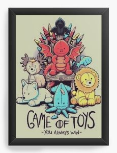 Quadro Decorativo A4 (33X24) Game Of Toys - Nerd e Geek - Presentes Criativos