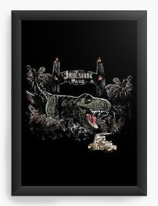 Quadro Decorativo A3 (45X33)  Jurassic Park - Nerd e Geek - Presentes Criativos