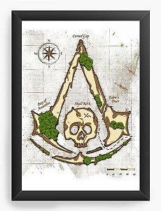 Quadro Decorativo A4 (33X24) Assassin Creed - Nerd e Geek - Presentes Criativos