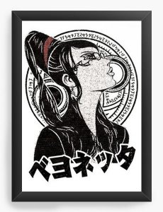 Quadro Decorativo A4 (33X24) Bayonetta  - Nerd e Geek - Presentes Criativos