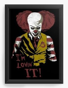 Quadro Decorativo A4 (33X24) I m Lovin It  - Nerd e Geek - Presentes Criativos