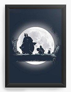 Quadro Decorativo A3 (45X33)  Anime Totoro Hakuna Matata - Nerd e Geek - Presentes Criativos