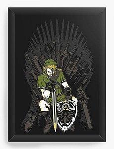 Quadro Decorativo A3 (45X33) Legend of Zelda Thrones - Nerd e Geek - Presentes Criativos