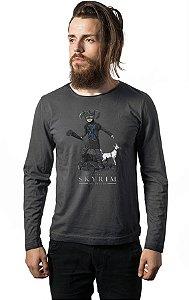Camiseta Masculina  Manga Longa Caverna do Dragão - Nerd e Geek - Presentes Criativos
