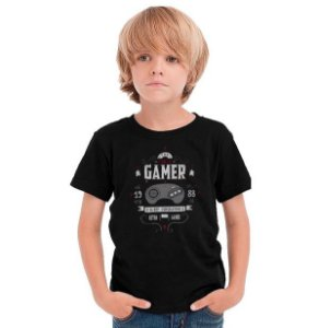 Camiseta Infantil Gamer 16bit Super - Nerd e Geek - Presentes Criativos