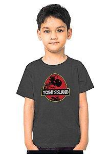 Camiseta Infantil Yoshi Island - Nerd e Geek - Presentes Criativos