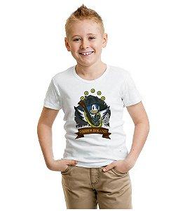 Camiseta Infantil Sonic O Senhor dos Aneis  - Nerd e Geek - Presentes Criativos