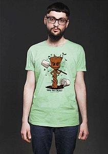 Camiseta Masculina  Save The Galaxy - Nerd e Geek - Presentes Criativos