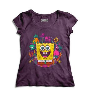 Camiseta Feminina Bob Esponja - Nerd e Geek - Presentes Criativos