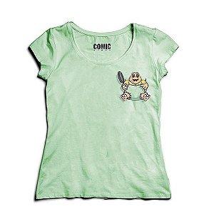 Camiseta Feminina Baby Familia Dinossauros - Nerd e Geek - Presentes Criativos