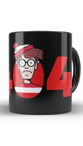 Caneca Error 404 Not Found Wally - Nerd e Geek - Presentes Criativos