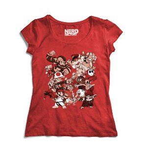 Camiseta Super Mario Vs Street Fighter - Nerd e Geek - Presentes Criativos