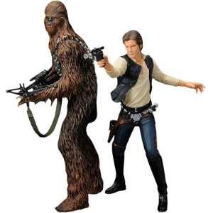 Han Solo & Chewbacca Two-Pack Artfx Statue 1/10