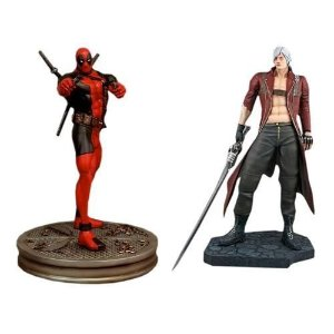 Dante Vs. Deadpool Statue Marvel Hollywood Collectibles 1/4