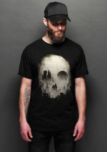 Camiseta Skull City - Nerd e Geek - Presentes Criativos