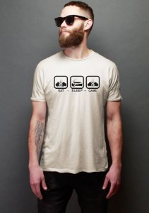 Camiseta Masculina Game Sleep Eat Nerd e Geek - Presentes Criativos