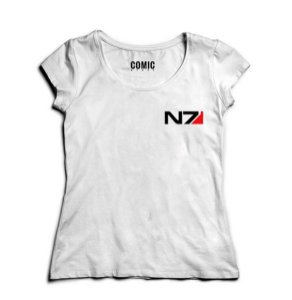Camiseta Feminina Mass Effect N7 Nerd e Geek - Presentes Criativos