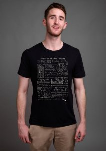 Camiseta Theory of Relativity Space Time - Nerd e Geek - Presentes Criativos