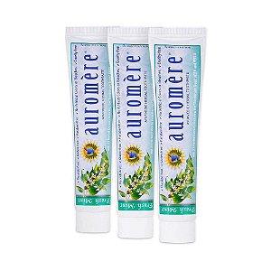 Creme dental Fresh Mint Auromer KIT C/3 UNID PAGUE 2 E LEVE 3