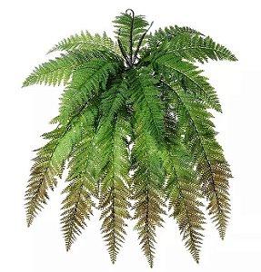 Folhagem Artificial Samambaia Verde Outono 78cm