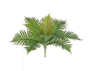 Folhagem Artificial Samambaia Real Toque Verde 40cm