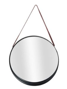Espelho Redondo Para Pendurar Metal Caramelo 25x25cm