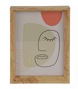 Porta-retrato MDF Amadeirado Marrom 13x18cm