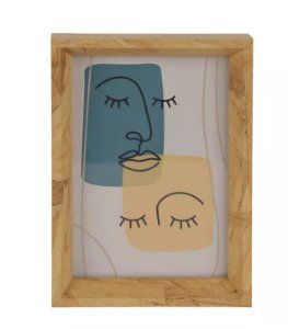 Porta-retrato MDF Amadeirado Marrom 10x15cm