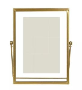 Porta-retrato Metal Vidro Dourado 10x15cm