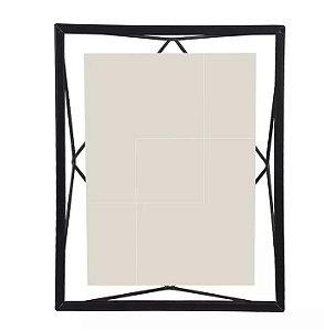 Porta-retrato Metal Geométrico Preto 15x20cm