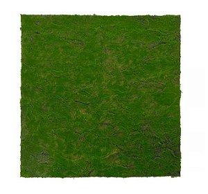 Folhagem Artificial Placa Musgo Trat. Acústico Verde Claro 1x1m
