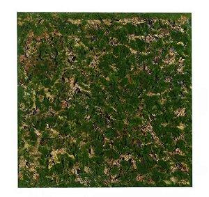 Folhagem Artificial Placa Musgo Trat. Acústico Verde Marrom 50x50cm