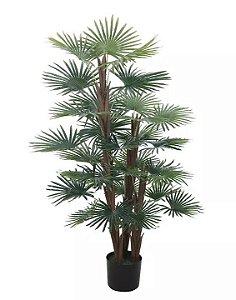 Planta Árvore Artificial Palmeira Leque Real Toque Verde 1,2m