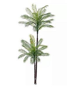 Planta Árvore Artificial Palmeira 2 Troncos Verde 1,45m