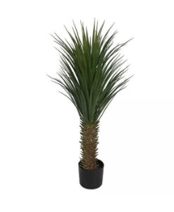 Planta Árvore Artificial Yucca Com Pote Verde 1,1m