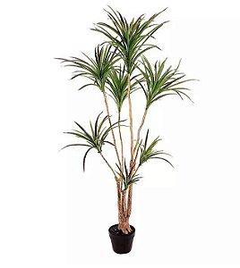 Planta Árvore Artificial Dracena Marginata Verde Vermelho 1,5m