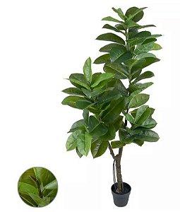 Planta Árvore Artificial Ficus Elástica Real Toque Verde 1,78m