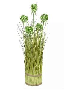 Planta Árvore Artificial Grass Folhagem Verde 64cm